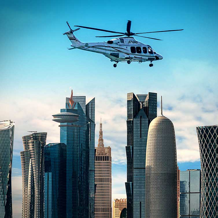 Helicopter Ride over Doha